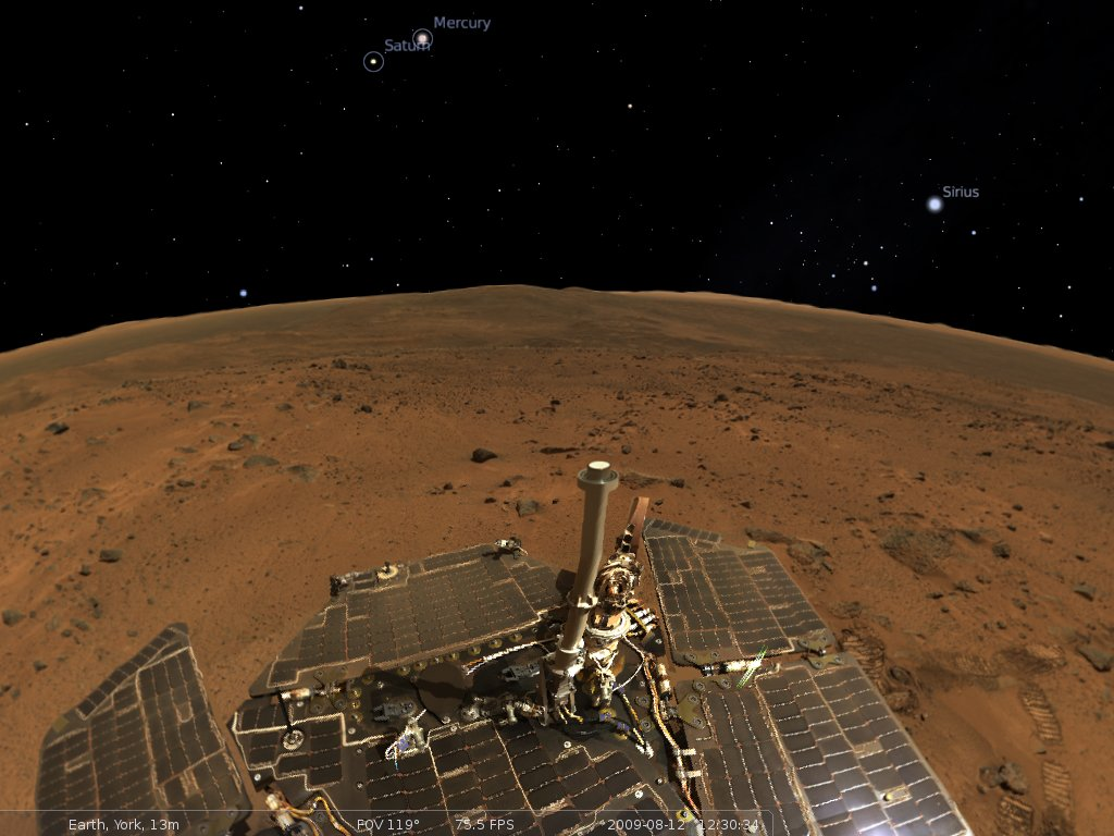 screenshot showing mars landscape