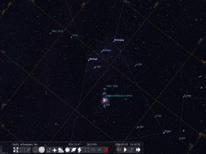 Stellarium astronomia constelaciones informacion screenshot