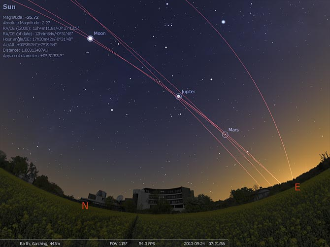 Stellarium (courtesy of Stellarium.org)