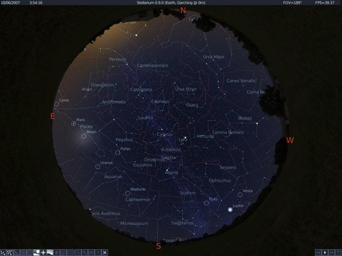 0.9-constellations - Ngắm bầu trời sao với Stellarium