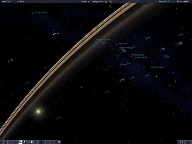 0.9-from-saturn - Ngắm bầu trời sao với Stellarium