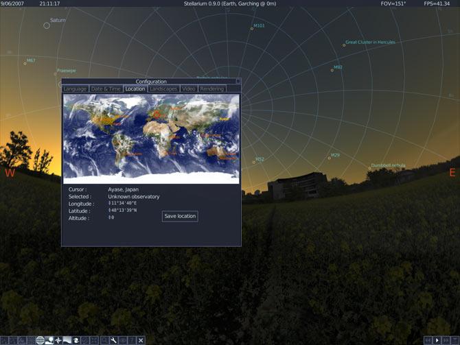logiciel stellarium gratuitement
