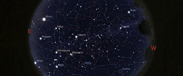 Full sky view of the constellations, their boundaries, the Milky Way.